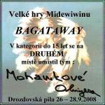 Diplom za druhé místo (Bagataway) na Midewiwinu 2008
