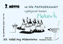 Diplom za druhé místo ve hře Papasekaway na Midewiwinu 2008